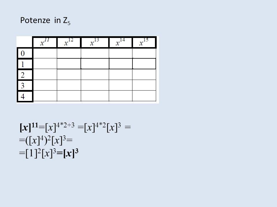 [x]11=[x]4*2+3 =[x]4*2[x]3 = =([x]4)2[x]3= =[1]2[x]3=[x]3